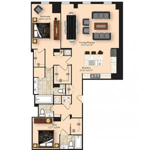 1 Bedroom 4A