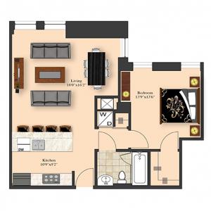 1 Bedroom 4C