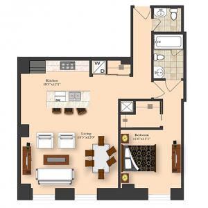 1 Bedroom 4E