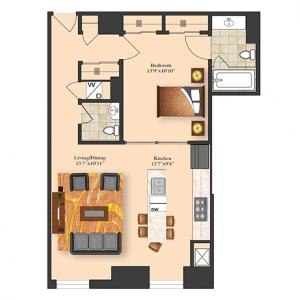 1 Bedroom 4F