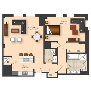 1 Bedroom 5C-7C