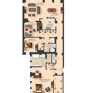 2 Bedroom 5B-7B