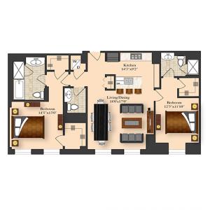 2 Bedroom 5D-7D